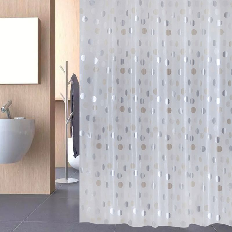 UFRIDAY PEVA Waterproof Shower Curtains Thicken Shower Curtain Bathroom  Curtain Fashion Silver Metallic Metal Wave Dots Cortinas In Shower Curtains  From ...