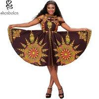 2017 New Women African Print Dress Dashiki Traditional Clothing Maxi Party Dresses Ankara Dress
