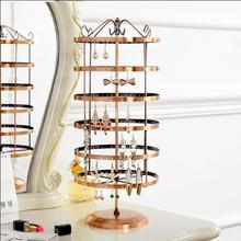 Creative earring rack jewelry display box rotating hanging necklace household storage