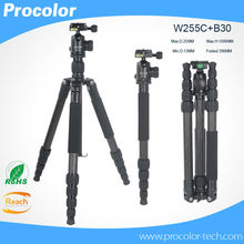 Professional Portable Photographic Travel Compact carbon fiber Tripod Monopod BallHead camera stand tripe for Digital SLR Camera