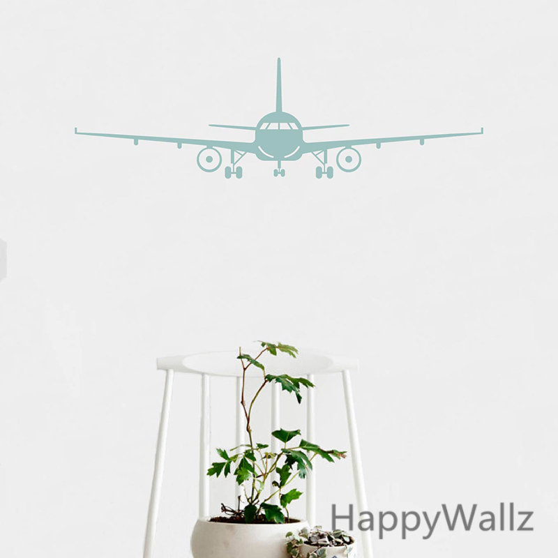 Airplane wall stickers muraux wall decor airplane wall art for Airplane wall decoration