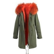 hot sale 2016 brand new big raccoon natural real fur coats for women winter jacket long winter coat women parka Thick warm liner