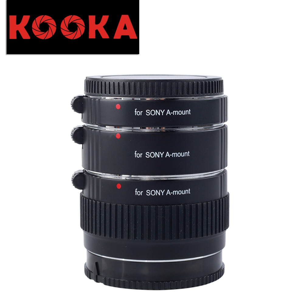 KOOKA KK-S68 Copper Extension Tube TTL Exposure Close-up Image for Sony A-Mount Cameras (12mm 20mm 36mm) marumi mc close up 1 55mm