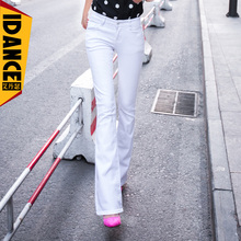 spring and summer bell bottom jeans female slim butt lifting two color boot cut jeans elastic