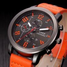 2016 Mens Relojes de Primeras Marcas de Lujo Zona Horaria Múltiple XINEW Auto Fecha Reloj de Cuarzo Hombres de Negocios Vestido Reloj Relogio masculino