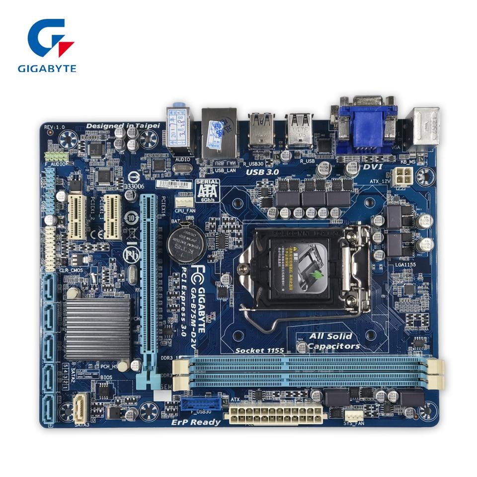 Gigabyte GA-B75M-D2V Desktop Motherboard B75M-D2V B75 LGA 1155 Core i7 i5 i3 DDR3 16G SATA3 USB3.0 VGA DVI Micro-ATXGigabyte GA-B75M-D2V Desktop Motherboard B75M-D2V B75 LGA 1155 Core i7 i5 i3 DDR3 16G SATA3 USB3.0 VGA DVI Micro-ATX