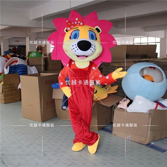 Lion Mascotเครื่องแต่งกายที่กำหนดเองแฟนซีAnime CosplayสำหรับHalloween Party