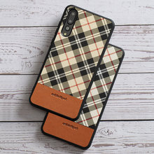 phone case for Huawei P20 lite Mate 9 10 20 Pro P10 Case Lattice texture cover silicone edge for honor 8X Max 9 10 Back Cover(China)