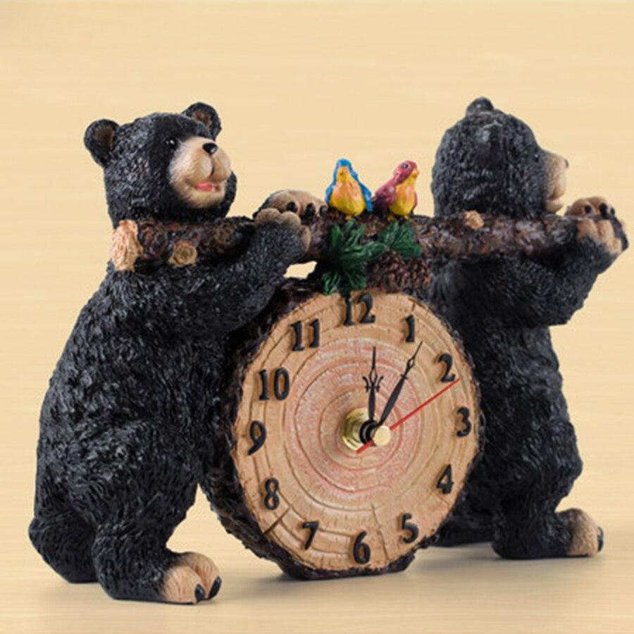 Creative enfants horloge alarme décor à la maison batterie cloche Table de chevet horloges électroniques en bois Reloj Despertador bureau horloge 50A0055