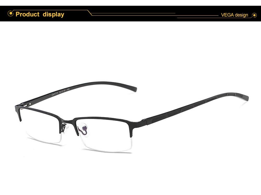 Eyewear Square Gaming Computer Glasses Women Men Blue Semi-rimless Light Glasses Comfortable Blue Glasse (7)