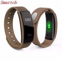 Smartch QS80 Bluetooth Smart Band Bracelet Wristband Heart Rate Sedentary Reminder Sleep Monitoring for IOS Android