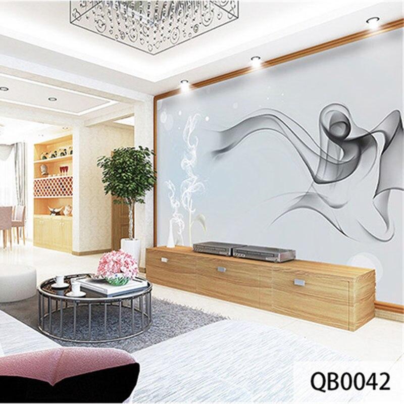Custom Print DIY Fabric &Textile Wallcoverings For Walls Wallpaper Matt Silk For Living Room Background Smoke Abstract Desktop