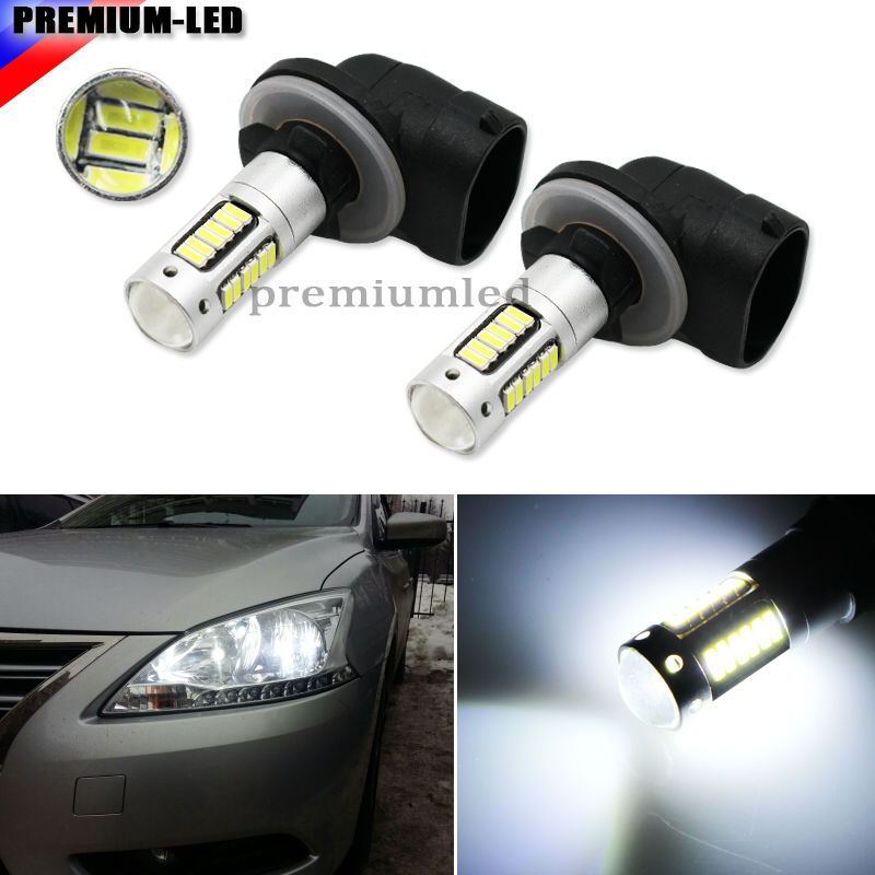 2pcs High Power Xenon White 30-SMD 4014 881 889 H27 LED Replacement Bulbs For Car Fog Lights,ca DRL Lamps 2pcs xenon hid white 25w high power 5 xcree xp e chips 881 h27 pgj13 led fog light driving drl bulbs