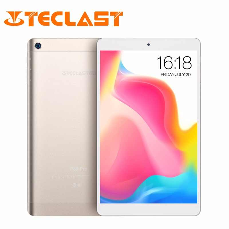 Teclast P80 Pro Tablet 3GB RAM 32GB ROM Android 7.0 MTK8163 Quad Core 1.3GHz Dual WiFi GPS HDMI Dual Cameras 1920*1200 PC Gold