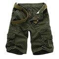 New arrivals fashion men camo cargo shorts military bermuda masculina de marca loose overalls 5 colors 28-38 A038