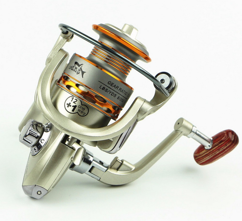 NEW HOT SALES DX7000 FOR BIG FISH Ocean inshore Fresh saltwater ICE FLY CARP spinning reel 13 Ball Bearing wood strengthen KNOB