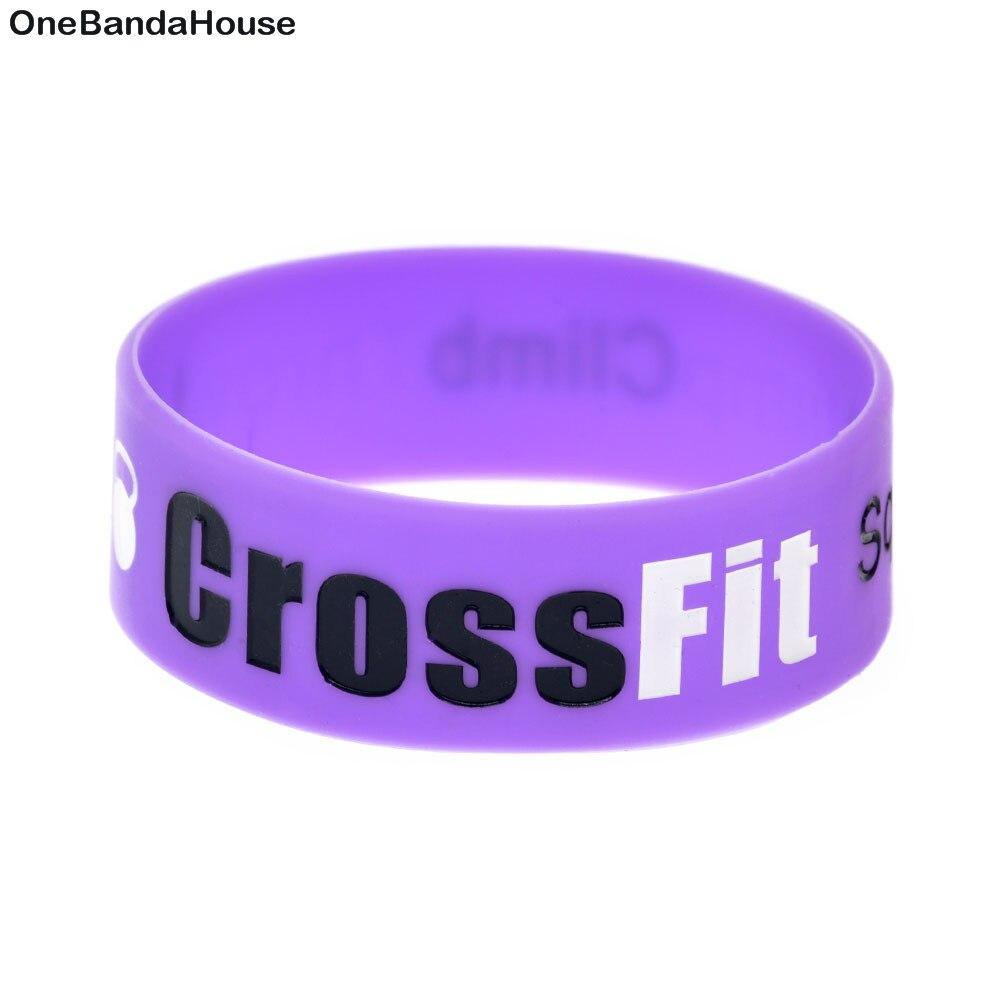25PCS/Lot Squat Jump Climb Throw Lift CrossFit Silicone Wristband Bracelet