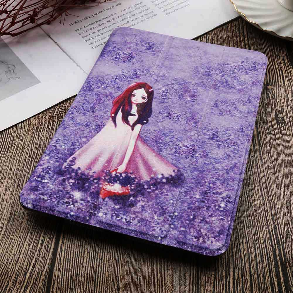 2-iPad 10.2 2020 White QIJUN Painted Case For iPad 10 2 inch 2020 PU leather Flip Stand Cover For iPad