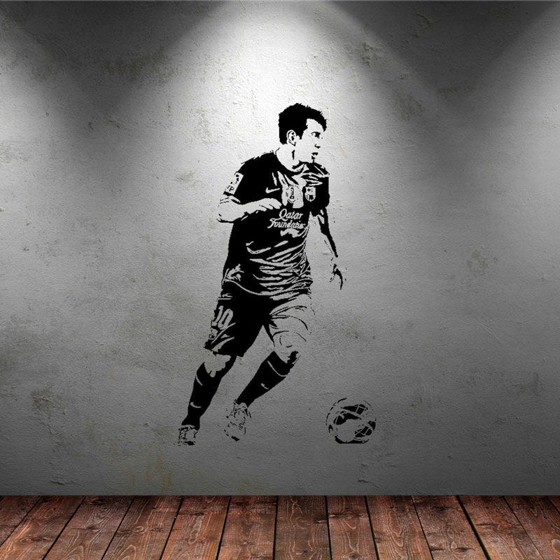 soccer stars SPORT GYM poster  home decoration decal vinyl wall - Home Decor - Photo 2