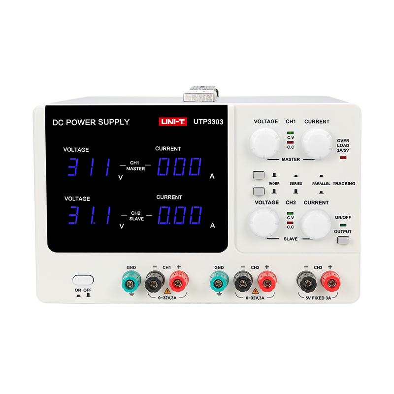 High Precision Adjustable Digital DC PowerSupply UNI-T UTP3303 32V/3A switch power supply EU 220V Laboratory-in Voltage Regulato uni t utp1305 dc power high precision programmable adjustable digital dc power supply 32v 5a usb connect computer eu 230v