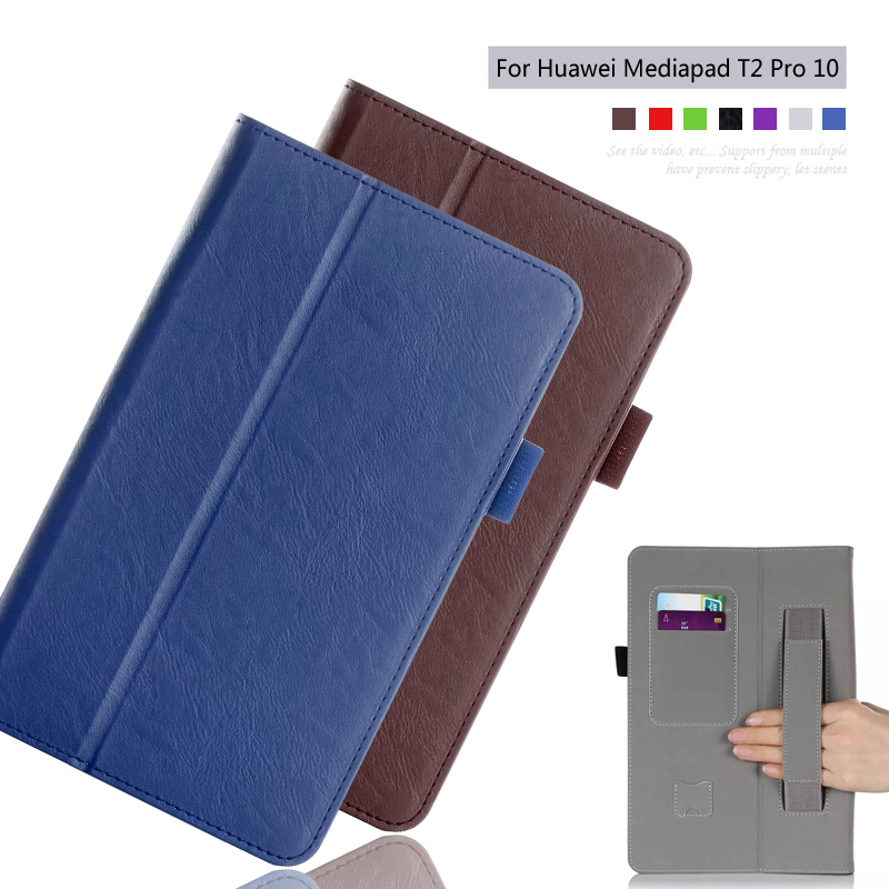 For Huawei MediaPad T2 Pro 10 FDR-A01W FDR-A03L 10.1 inch TabletSlim Folding Leather Stand Case Cover/ Elastic Hand Strap+Stylus parastone pro 10 статуэтка медсестра profisti parastone
