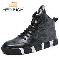 Генрих 2018 высокое качество из натуральной кожи мужские полусапоги итальянская натуральная кожа Мужские ботинки Для мужчин модные популярн