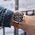 Мужские кварцевые часы BENYAR  повседневные часы с кожаным ремешком в стиле милитари  2019