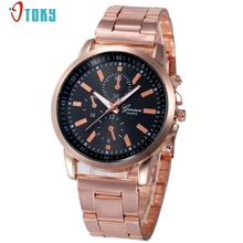 Relogio Feminino New Rose Gold Band Fashion Women Watches Quartz Wrist Watch Creative Mar24