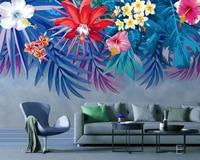 Papel de parede tropical rainforest plant wallpaper living room bedroom dining room TV sofa wall restaurant kitchen 3d mural