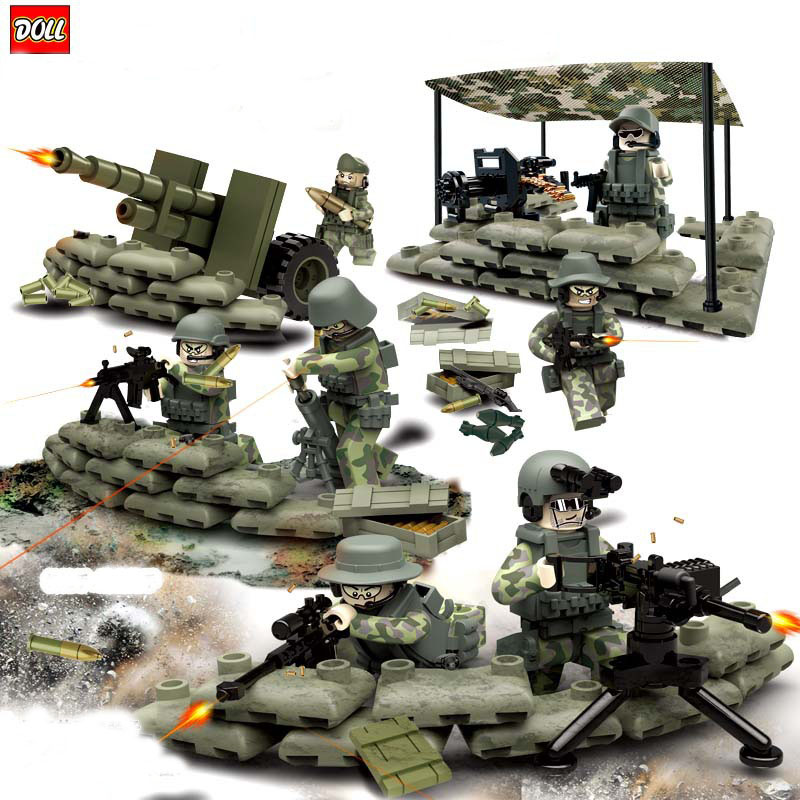 New Arrival Task Force Jungle Commando Minifigure Weapon Building Blocks Military Army Camp Model Bricks Toy