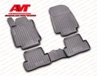 Floor mats for Renault Clio III 2005 4 pcs rubber rugs non slip rubber interior car styling accessories