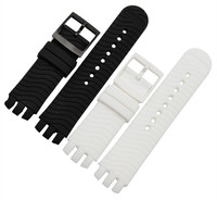heat! Waterproof silicone strap for Swatch YTS712 408 704G Swatch 20mm pin buckle watch accessories