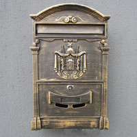 European Mailbox Mail Box Vintage Cast Aluminum Wall Mount Mailbox Mail Box P O Box With