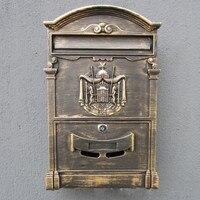 Europejski mailbox skrzynki pocztowej rocznika odlewu aluminiowego do montażu na ścianie skrzynki pocztowej skrzynki pocztowej p.o box z 2 key lock