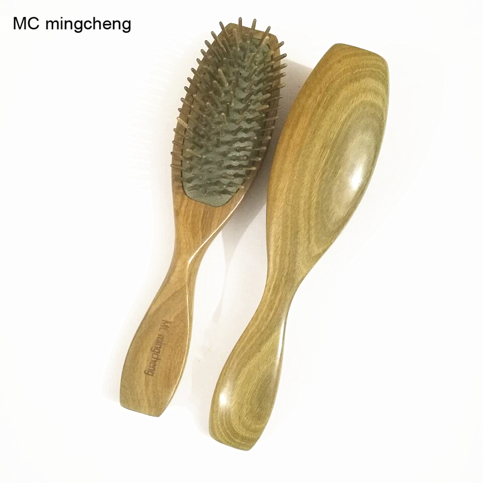 MC 2017 NEW Fashion Wooden Comb Sandalwood Airbag Massage Hair Combs Natural Antistatic Head Massager Tool Relaxation Brushes green sandalwood combed wooden head neck mammary gland meridian lymphatic massage comb wide teeth comb