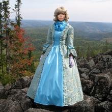 Платье 18 век Плюс Размер викторианские платья длинное атласное в викторианском стиле печать на заказ викторианское бальное платье