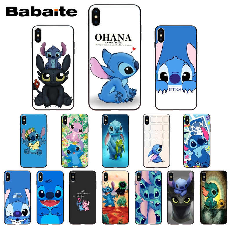 Funny Cute Stitch Cartoon Emoji Coque Shell Phone accessories Case for iPhone X XS MAX  6 6s 7 7plus 8 8Plus 5 5S SE XR Babaite