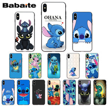 Funny Cute Stitch Cartoon Emoji Coque Shell Phone accessories Case for  iPhone X XS MAX 6 6s 7 7plus