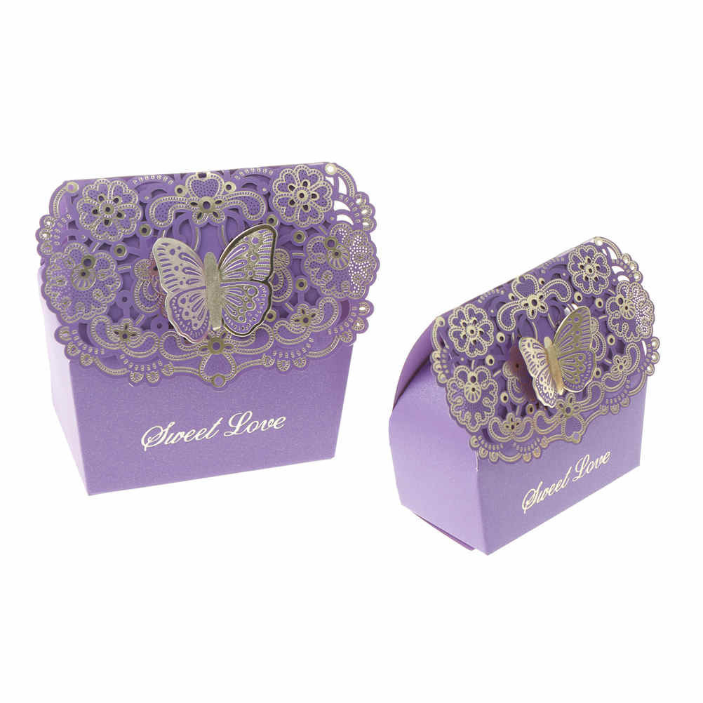 3pcs Cut Hollow Butterfly Candy Box Laser Candy Chocolates Bag Baby ...