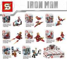 SY 624 80pcs/lot Iron man Avenger Super Heroes Minifigure Batman action Figures Building Blocks Sets Kids Toys