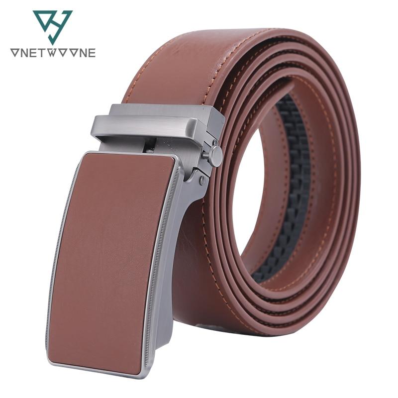 جلد طبيعي حزام الرجال التلقائي مشبك - ملابس واكسسوارات