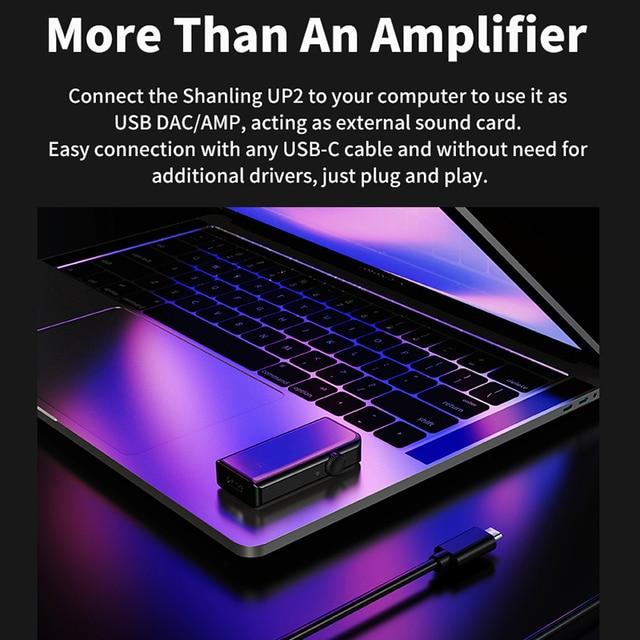 SHANLING UP2 ES9218P Hi-Res Portable HiFi Audio Bluetooth Amplifier USB DAC Knowles Microphone support LDAC/aptX HD/SBC/AAC HWA 5