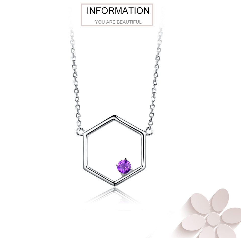 925 Sterling Silver Natural Amethyst Necklaces (1)