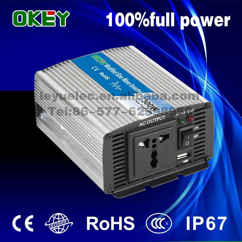 все цены на CE mirco off grid 300w 24v to 240v modified sine wave inverter ac output solar inverter made in China онлайн