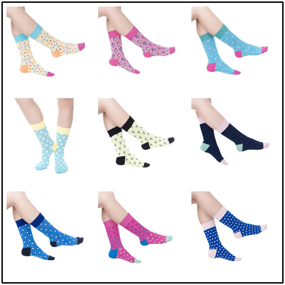 PEONFLY New Pattern Autumn long dress high Funny men women Socks & sock hosiery happy Lovers Socks Male Full Cotton