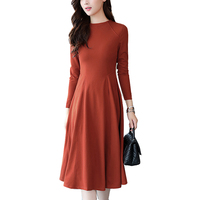 Fashion Women Dress 2017 Autumn Long Sleeves Elegant Vintage Slim Sexy Dresses Casual Plus Size A