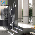 Современный метеоритный душ люстра освещение 175-240 В Большая лестница светодиодный подвесной светильник отель изысканный светильник лампа