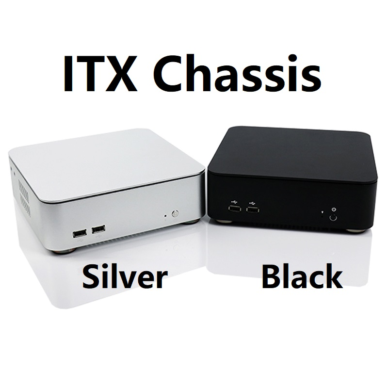 M2 MINI ITX Small Computer case Fashion Horizontal Aluminum for HTPC Chassis computer case