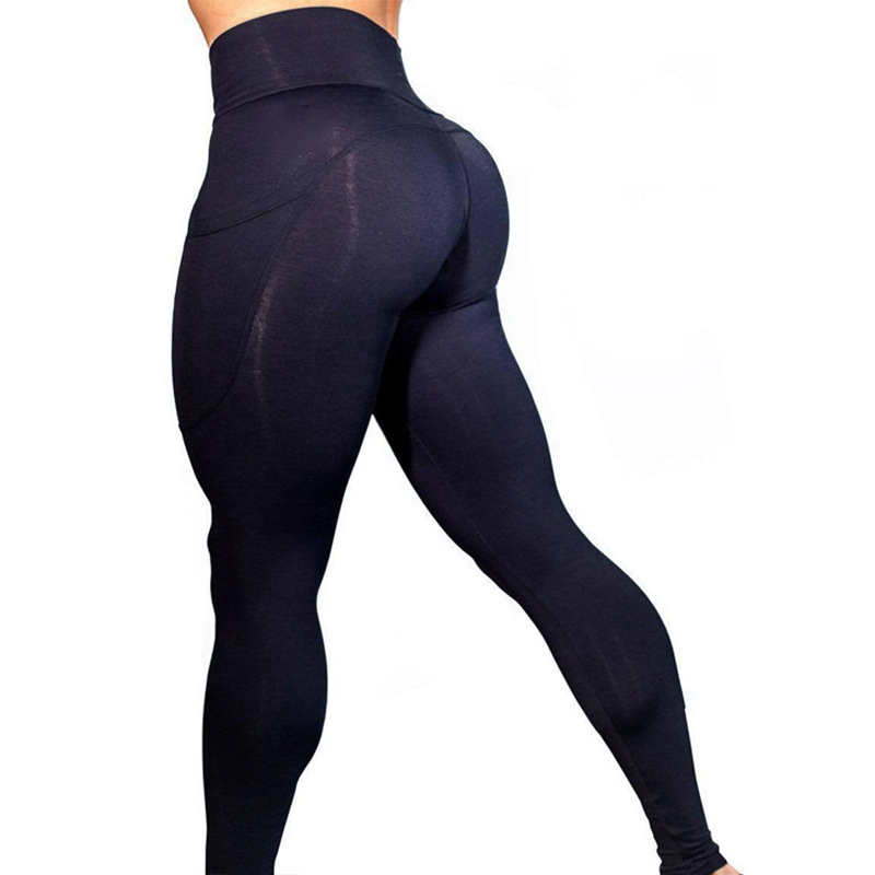 Image 5 - 2019 women brand new sports leggings for fitness, High Waist outdoor legging with pocket, Tummy Control sports pants-in Leggings from Women's Clothing