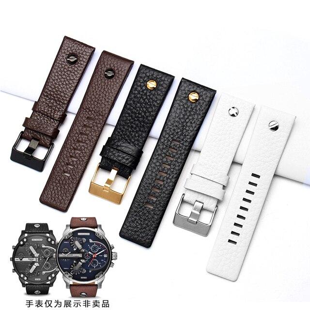 1a396295d70d De cuero Universal para Diesel reloj de pulsera correa de cinturón para  BraceletDZ7314 DZ7256 Correa correas